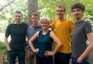 My four fine sons give me lots to blog about